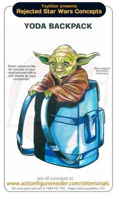 Rejected Star Wars Concepts: Yoda Backpack