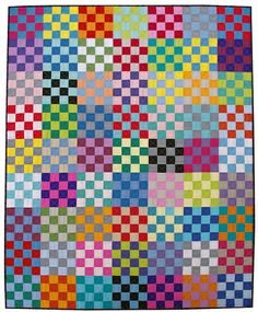 Be Squared Quilt Pattern (pdf file) / Red Pepper Quilts Patch Quilt, Quilt Blocks, Rail Fence Quilt, Modern Quilting Designs, Quilt Modernen, Scrappy Quilts, Batik Quilts, Jellyroll Quilts, Strip Quilts