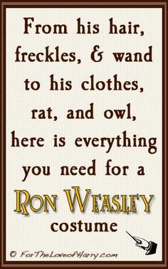 Everything you need for a Ron Weasley costume