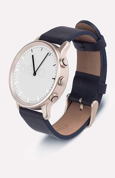 Nevo watch. French design with Swiss timekeeping, activity, tracking, phone notifications and more.