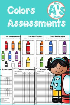 Everything you need to assess your kiddos' ability to recognize and identify colors is in this simple and easy-to-prep assessment kit! And the price is right, too! Preschool Color Activities, Preschool Ideas, Christian School, Data Sheets, Teacher Tools, Learning Colors, Preschool Kindergarten, Math Resources, Pre School