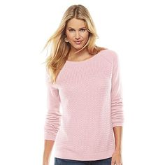 SONOMA life + style® Basket-Weave Sweater - Women's