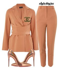 """""""Untitled #684"""" by harrisjazmin on Polyvore featuring Topshop, Christian Louboutin and Chanel"""