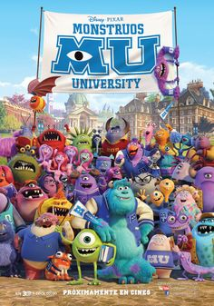 Cartel Español de Monstruos University