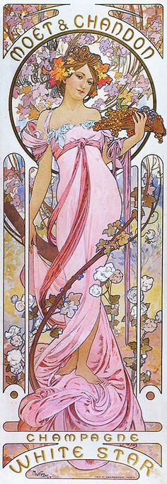 Alphonse Mucha 'Moet & Chandon White Star' 1899 | JV