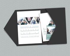 Triangle Photos, a printable wedding invitation suite. #wedding #rsvp #pocket_envelope #modern #engagement_photos