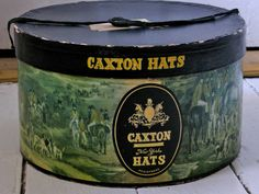 vintage hat box c. 1940's or so. Caxton....hmmmm I know Caxton the hedge fund but never heard of Caxton Hats. cool....