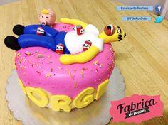 Los fans de los #Simpsons no se podían quedar sin su pastel de Homero.   Facebook:  https://www.facebook.com/pages/Fabrica-de-Postres/169060363149569