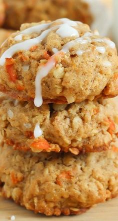 Carrot Oatmeal Cookies-made these today and they are yummy.  Husband says they taste like a 1/2 dozen more.