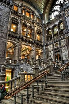 Antwerp central railway station, Belgium
