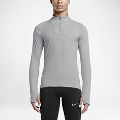 STAY WARM, RUN COOL. The Nike AeroReact Men's Long Sleeve Running Top features a revolutionary, breathable fabric that reacts to your sweat to help you maintain optimal temperature throughout your run. Adaptive Breathability Nike AeroReact fabric uses fibers that open to increase airflow when you sweat and close when you cool down, providing adaptable, breathable performance to stay cool, dry and comfortable from start to finish. Freedom to Move Articulated seams map the natural contours of…