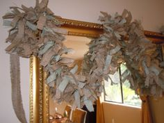 Burlap Garland, for Wedding, Shower, Party, Home Decor, Rustic, Shabby, Woodland, Country. $85.00, via Etsy.