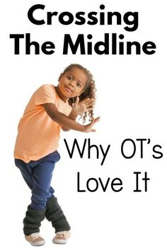 Midline crossing is so important for development.  An occupational therapist shares her favorite midline crossing ideas  for kids and why it is so important. Occupational Therapy Activities, Pediatric Occupational Therapy, Pediatric Ot, Physical Activities, Movement Activities, Everyday Activities, Sensory Activities, Crossing Midline, Gross Motor Activities