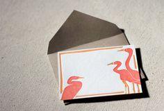 Heron gift tags