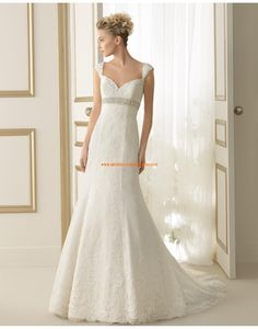Moderne Herz-Ausschnitt Meerjungfrau Hochzeitskleider aus Spitze 159 ESPIGA | luna novias 2014