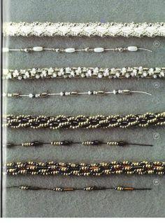 Turkish loop bead crochet--many examples w stringing patterns