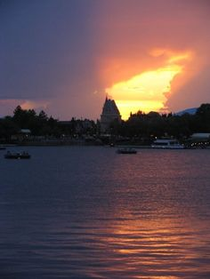 sunset over Epcot