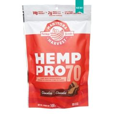 When you need a chocolate fix... mix with your favourite dairy or non-dairy milk >> @manitobaharvest  HempPro 70 Chocolate