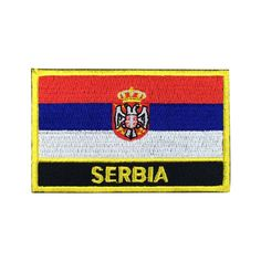 Serbia Flag Patch Embroidered Patch Gold Border Iron On patch Sew on Patch Bag Patchmeet you on Fleckenworld.com