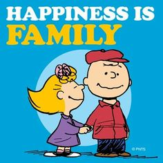 Happiness is family. Sally and Charlie Brown.