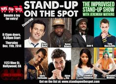 Be A Part of Stand-Up on the Spot's Toys for Tots Event Thursday 12.11