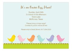 Easter Chick Party Invitation