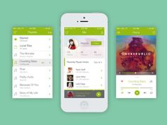 01 iphone  620x465 20 Creative Redesign 5 #flat #IOS7 #redesign #spotify