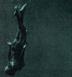 Underwater photograph by Fosco Maraini, from his book, Hekura, The Diving Girl's Island