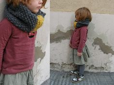 Trula kids.Would like that scarf for myself