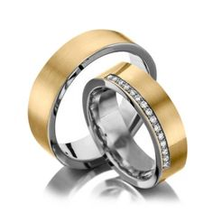 Alianças Casamento Ouro e Prata Polidas 5mm 10g VJ7916