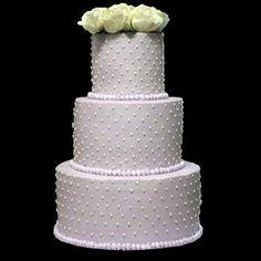 Lavendar Wedding Cake with Swiss Dots