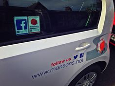 The team at Mansons with their #Vantag '#socialmedia helping turn their footfall into followers These feature Google Analytics, Contactless and QR technology.