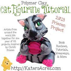 Polymer Clay Cat Figurine Tutorial