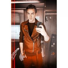 Heffrondrive aka Kendall Schmidt with red everything outfit. Love him and I love red!  Re-posting from Kendall instagram @ kendizzzzle