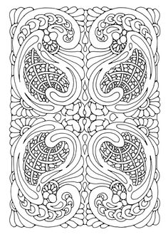 Free Doodle Art abstract coloring page swirls coloring pages