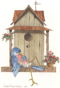 Nap Time approx. 5x8 watercolor | CShoresInc - Painting on ArtFire