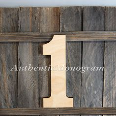 24 Wooden Number 1 Unpainted Large. Baby 1st by MonogramCustomArt