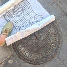 Trodden under foot Valencia #rubbing  via @metric_studio