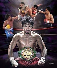 Pac Man: Manny Pacquiao by Wishum Gregory Boxing Manny Pacquiao, Manny Pacquiao Vs Mayweather, World Boxing Council, Pacquiao Vs Bradley, Pacquiao Fight, Boxing Images, Tupac Art, Philippine Houses, Tennis Quotes