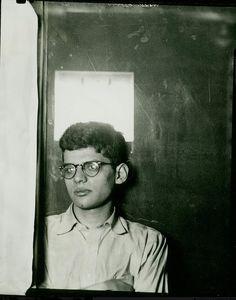 Allen Ginsberg, self portrait in AP darkroom, 1949
