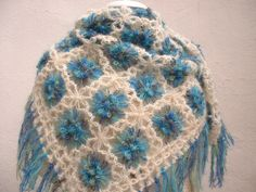 flower loom shawl-great use of that mohair yarn that's so annoying to knit