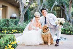 Pups are the best accessory for every bride <3 Wedding Chicks