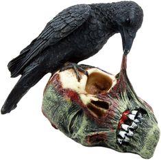 Ebros T Virus Infected Raven Crow Feeding on Zombie Flesh Decorative...