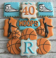Hoops Basketball Themed 40th Birthday Set | Cookie Connection