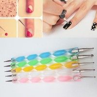 You can use this useful Nail Art Pens for creating a marbling design, blending colors, creating swir