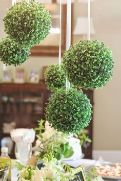 Running On Plenty: Green & White Bridal Shower