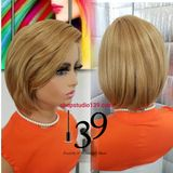 (Monica) BoB cut wig with side part and bangs – Shopstudio139 Blonde Bob Wig, Blonde Bobs, Bob Cut Wigs, Black Bob, Bangs, Ash, Brown, Beautiful, Color