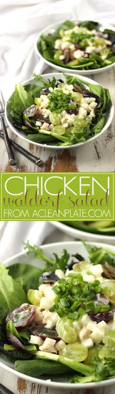 Chicken Waldorf Salad recipe from acleanplate.com