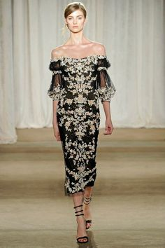 New York Fashion Week: Marchesa Fall 2013 / Photo by Anthea Simms New York Fashion, High Fashion, Fashion Beauty, Fashion Show, Womens Fashion, Fashion Trends, Cocktail, Glamour, Beautiful Gowns
