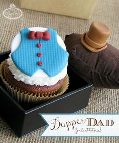 Dapper Dad Father's Day fondant tutorial
